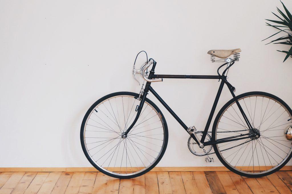 bike inside house